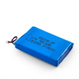LiPO റീചാർജ് ചെയ്യാവുന്ന ബാറ്ററി 502236 3.7V 380mAH / 3.7V 760mAH / 7.4V 380mAH